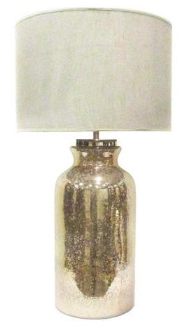 Eglomised Gold Finish Mercury Glass Lamp