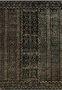 Kenya Night Cream/Black Rug 245x305cm
