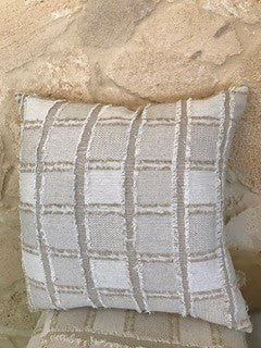 Bedu Fringed Linen Cushion 50x50