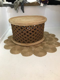 Bamileke Table approx 75cm NATURAL