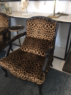 French Low Chair Chilanga Leopard