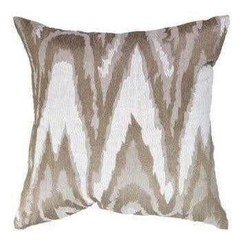 Cushion-Ikat Cream Loung 55x55
