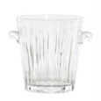Ribbed Glass Ice Bucket