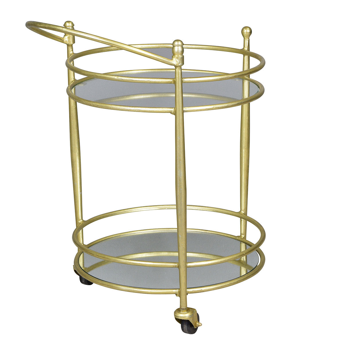 Gold Circle Bar Cart