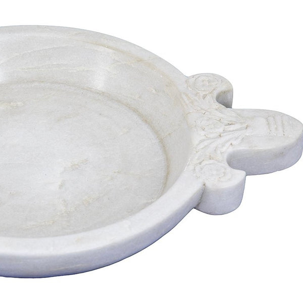 Marble Serving Bowl With Handle