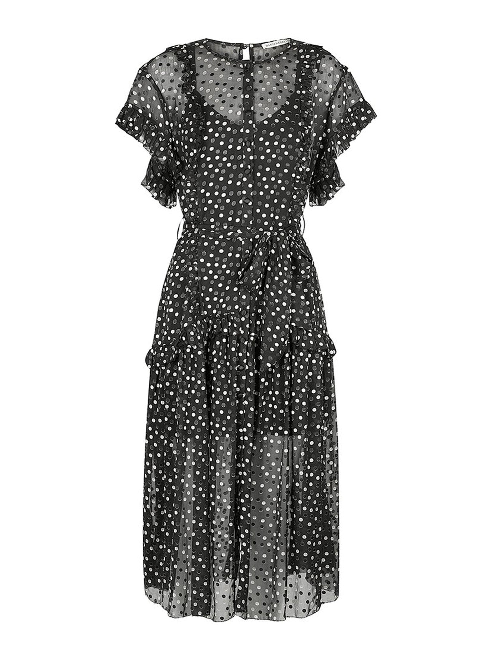 Karen Silk Dress Black Confetti