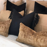 Kava Black Cushion Linen Side Tassle