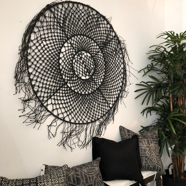 Black Woven Wall Hanging