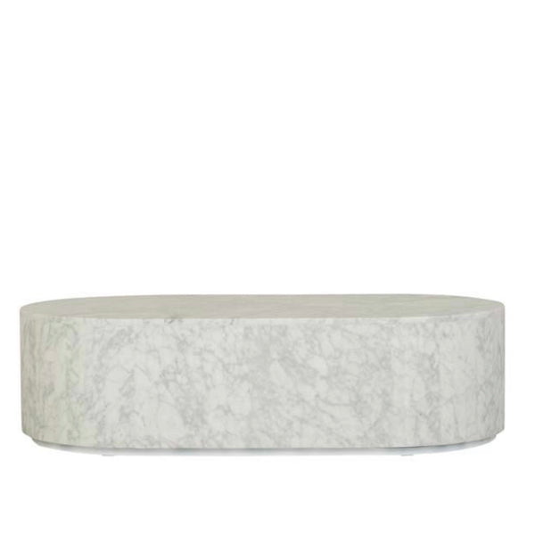 Block Oval Coffee Table - Marble