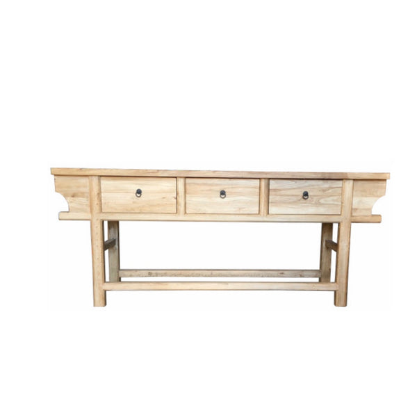 Recycled 3 draw elm console