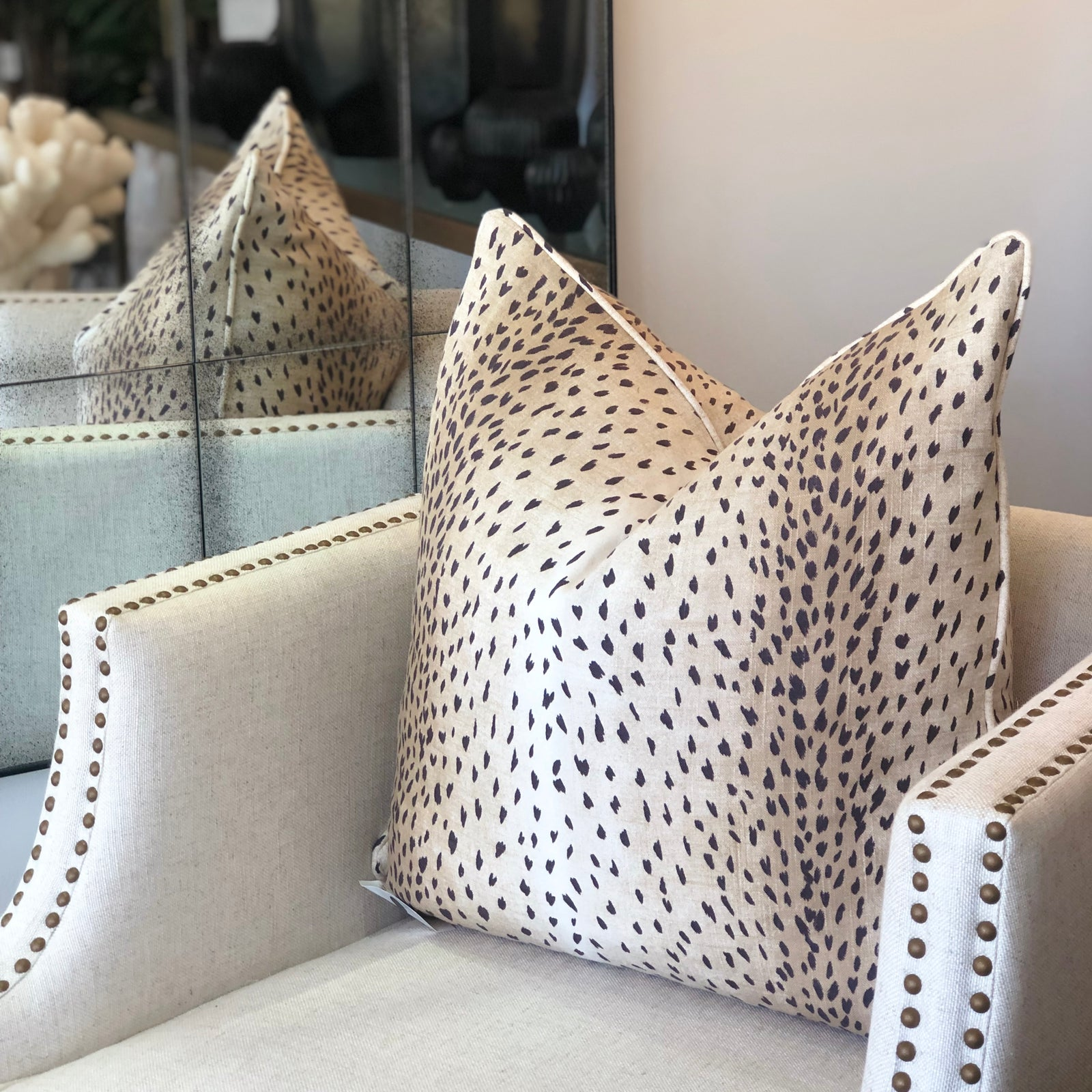 Cheetah Classic Black 60 x 60 Cushion