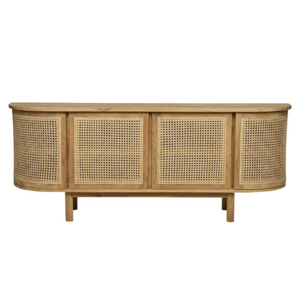 Curved Rattan Buffet
