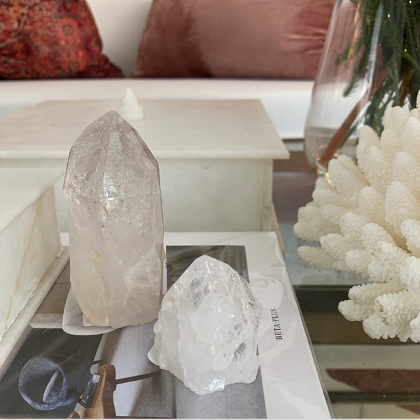 Clear quartz semi polar fire ice