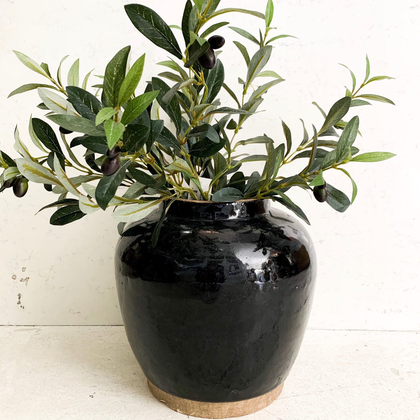 Weathered Black Pot