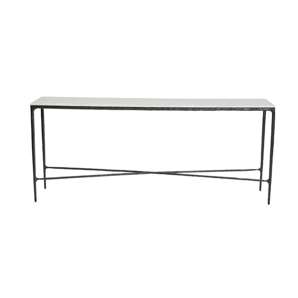 Hand Forged Iron Console Black