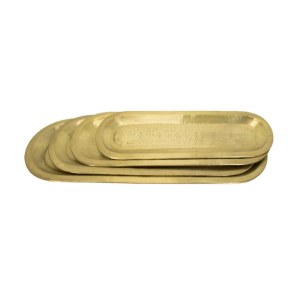 Oval Antique Brass Tray