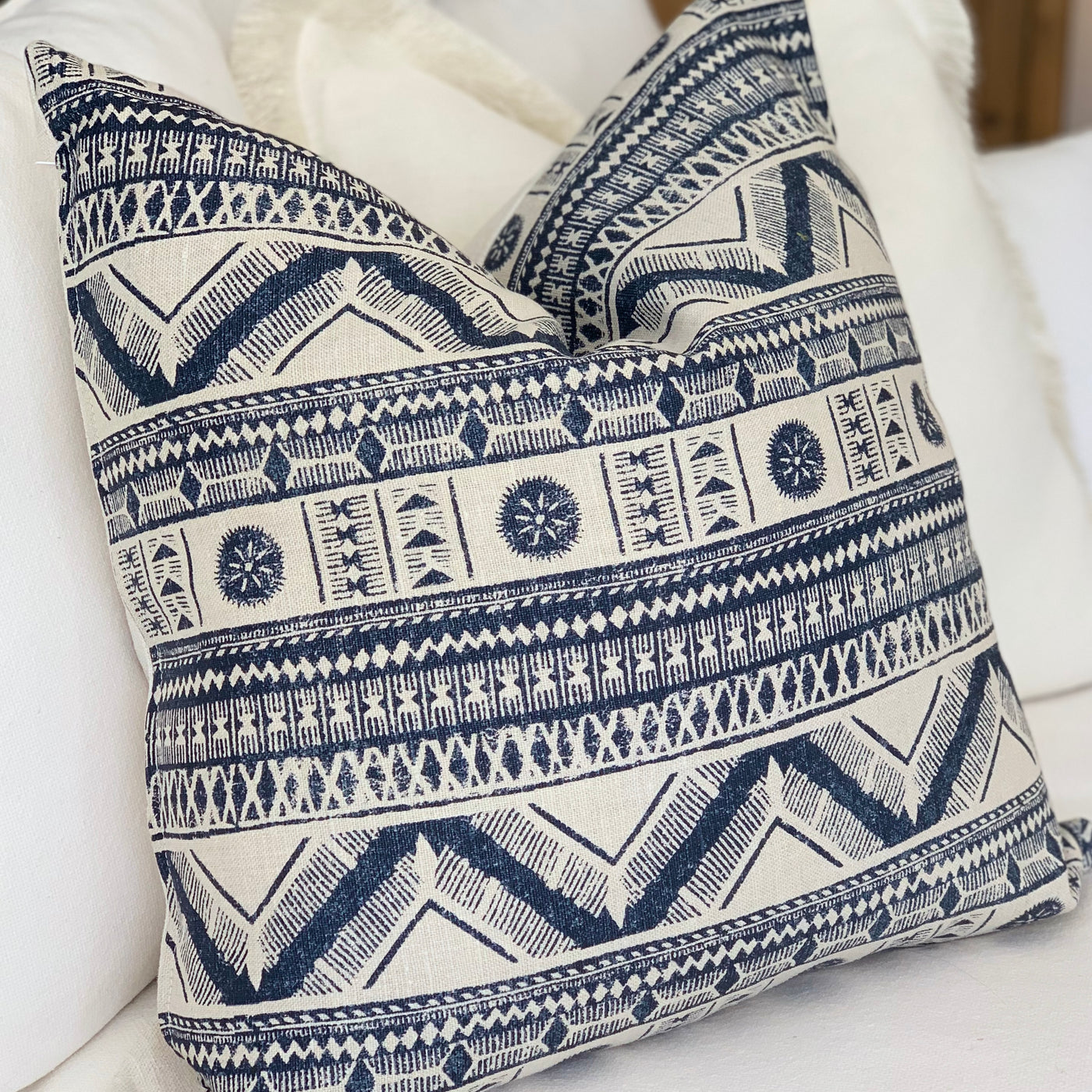 Custom Cushion Blue Patterns