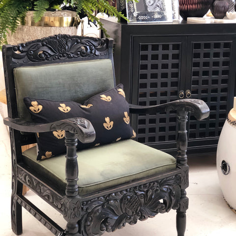Leopard Studded French Chairs