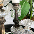 Vintage Brass/Crystal Candle Stick