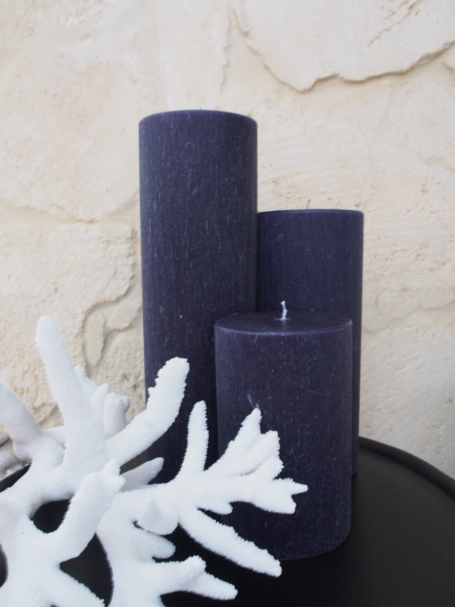 Black Pillar Candle 130x400