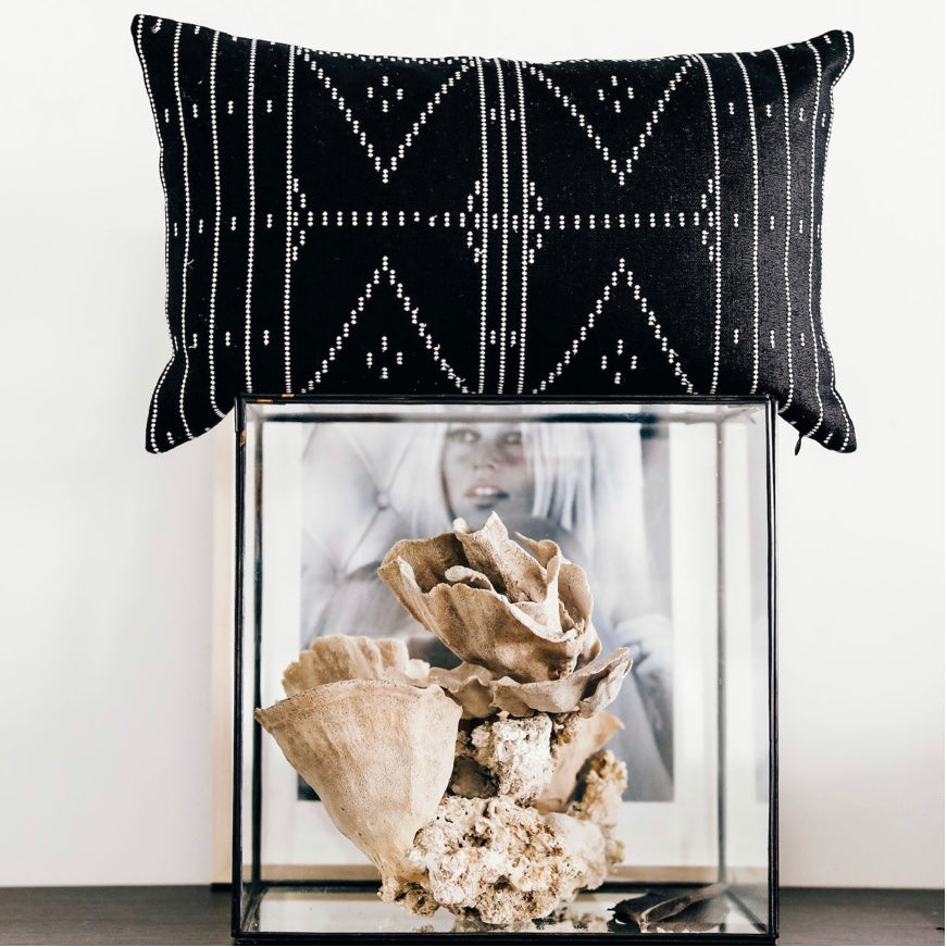 Baba Cushion Blk/Ivory