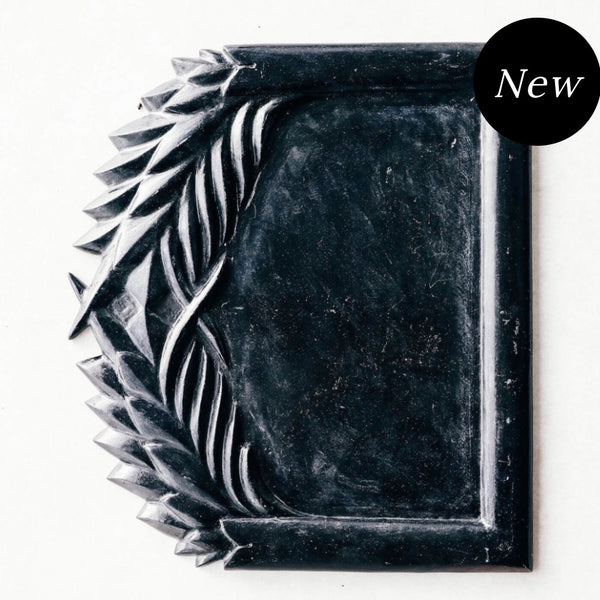 Wreath Marble Tray Black