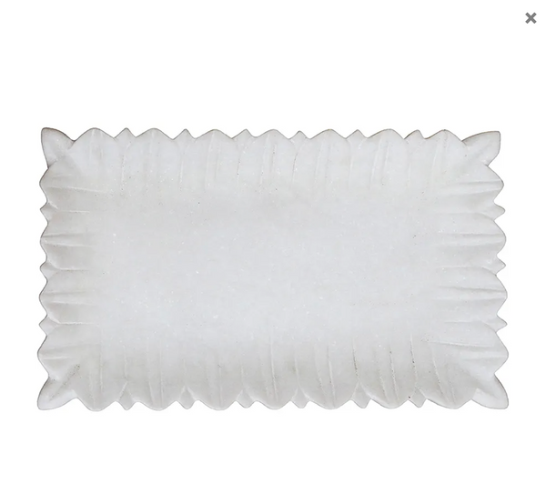 Lotus Marble Rectange Platter