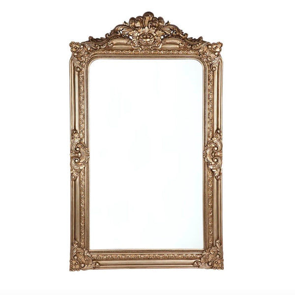 Antique Brass Floor Mirror