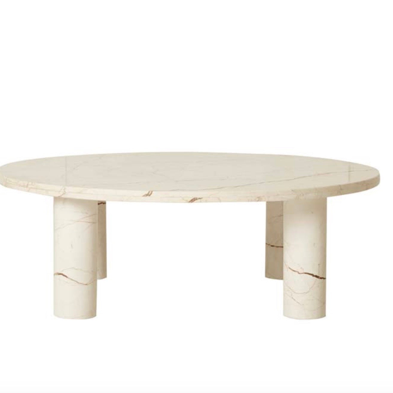 Round Leg Marble Coffee Table