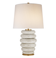 Stacked Table Lamp with Linen Shade