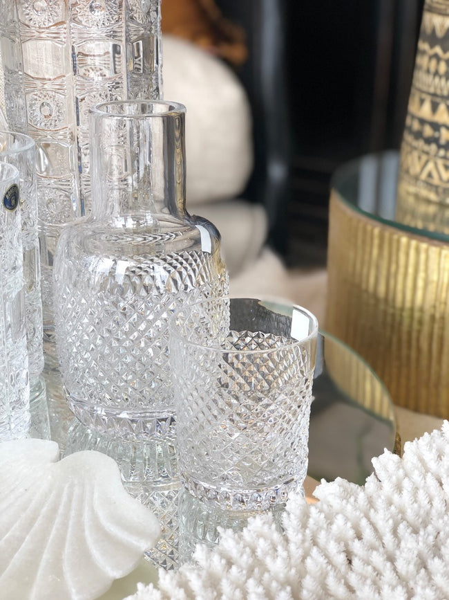 Crystal Bedside Water Carafe Pave Cut