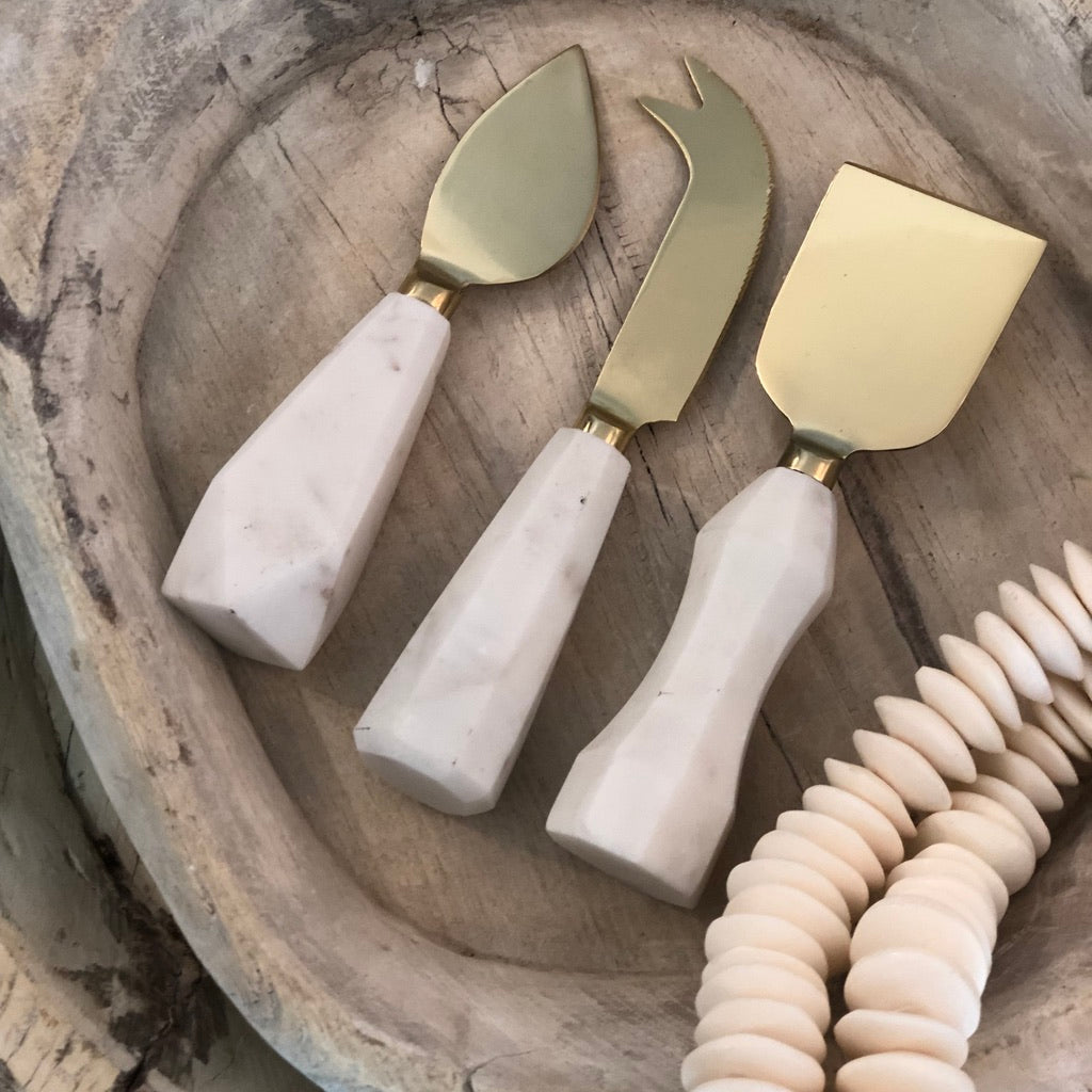 Amira Marble Cheese Set