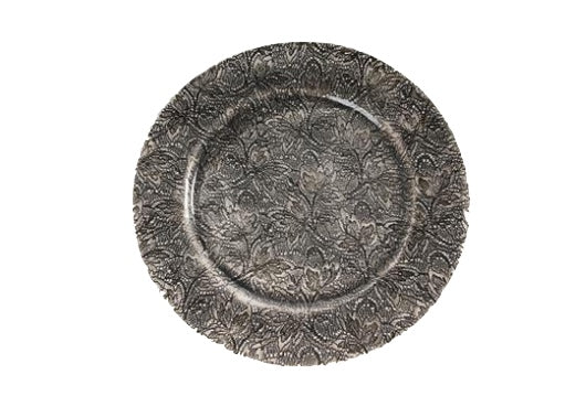Wonki Ware Side Plate Black Fern Lace