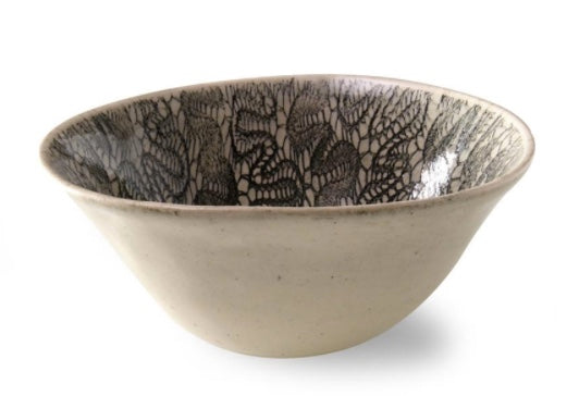 Wonki Ware Pasta Bowl Black Lace
