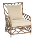 Ming Lounge Chair Rattan Grey Wash