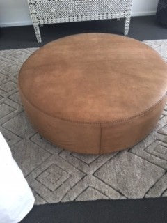 Extra Large Brown Leather Ottoman 1.2