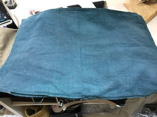 Pre Washed Linen Cushion Ocean 40x60