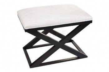 Cross Legged Stool Nat/Black 60w x 40d x 45h
