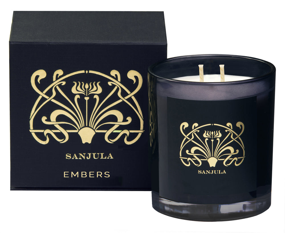 Embers XL Transparent Black Jar
