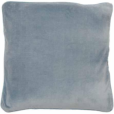 Cotton Velvet Cushion w/ Piping Silver Grey 60x60