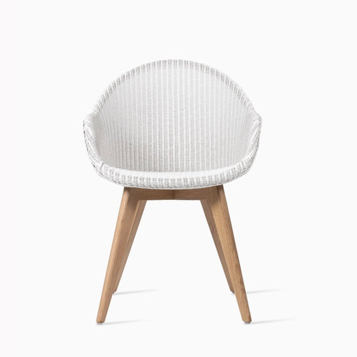Avril High Back Dining Chair White/ Oak Legs
