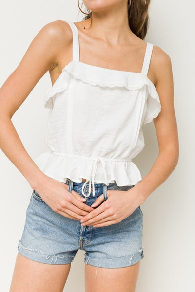 White Ruffle Crop