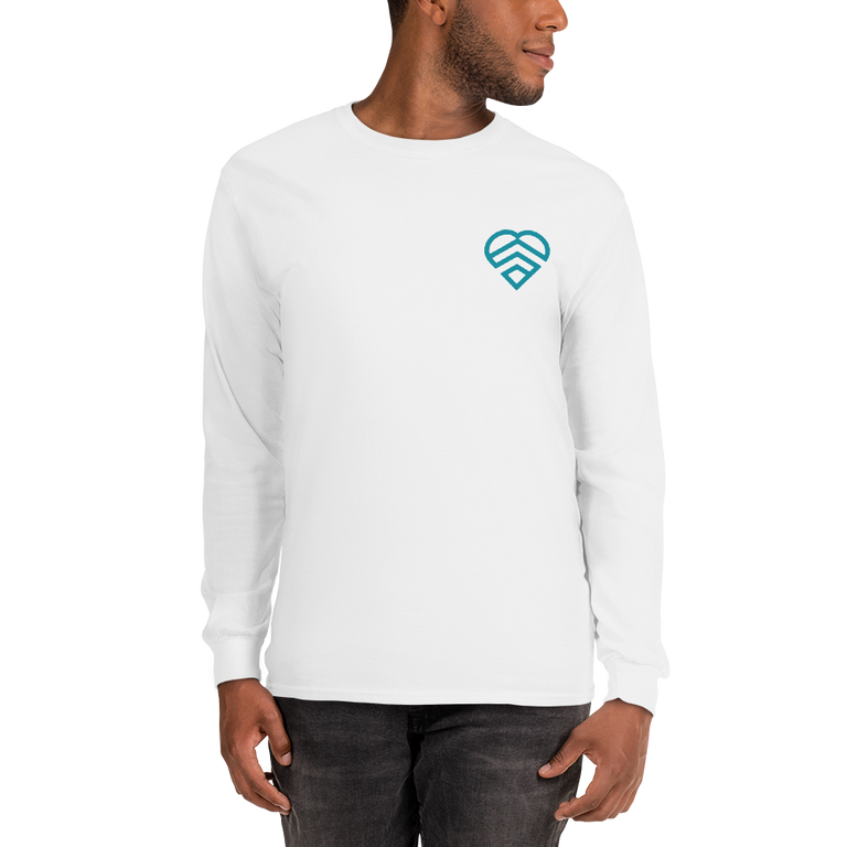 HAVE A STRONG DAY | LONG SLEEVE (WHITE)-MENTAL HEALTH AWARENESS, STRENGTH,  ANXIETY, DEPRESSION - HAVE A STRONG DAY.