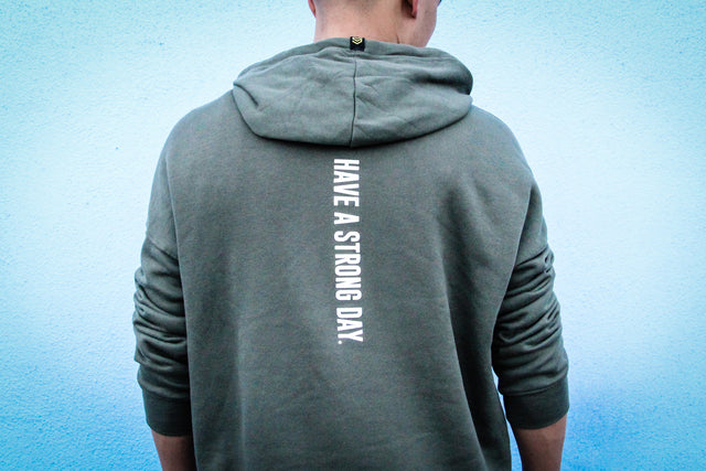 MILITARY GREEN SIGNATURE HOODIE - UNISEX