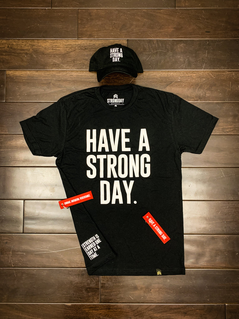 HAVE A STRONG DAY RED FLIGHT KEYCHAIN