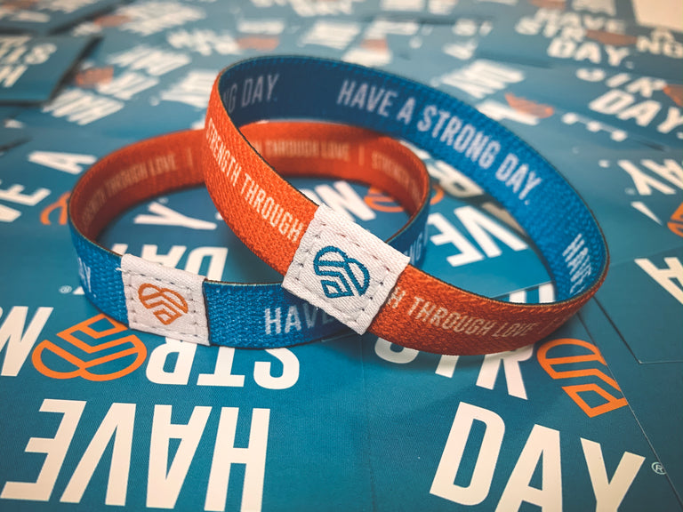 HAVE A STRONG DAY. | MENTAL HEALTH | REVERSIBLE WRISTBAND - LOVE, ANXIETY, DEPRESSION, SELF-CARE - HAVE A STRONG DAY.