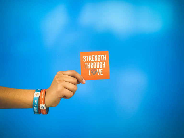 HAVE A STRONG DAY. | MENTAL HEALTH | LOVE STICKER - LOVE, ANXIETY, DEPRESSION, SELF-CARE - HAVE A STRONG DAY.
