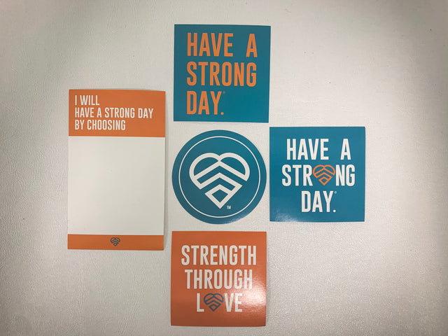 *STICKER PACK* HAVE A STRONG DAY. | MENTAL HEALTH | - LOVE, ANXIETY, DEPRESSION, SELF-CARE - HAVE A STRONG DAY.