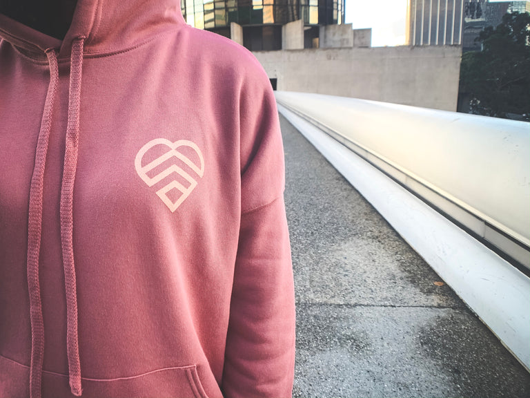 HAVE A STRONG DAY | MENTAL STRENGTH HOODIE (MAUVE)-MENTAL HEALTH AWARENESS, ANXIETY, DEPRESSION - HAVE A STRONG DAY.