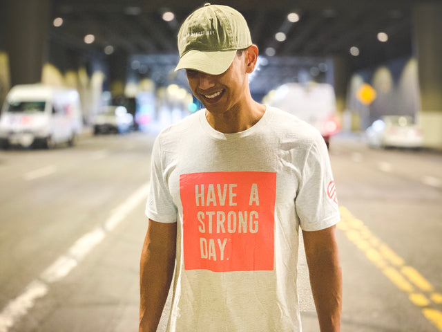 HAVE A STRONG DAY | MENTAL STRENGTH SHIRT (NATURAL)-MENTAL HEALTH AWARENESS, ANXIETY, DEPRESSION